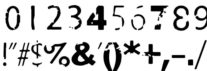 Damage Red Шрифта ДРУГИЕ символов