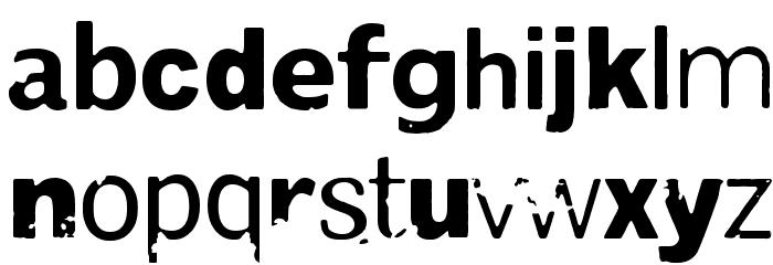 Damage Red Шрифта строчной