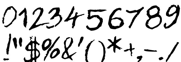 Dan Hand Font OTHER CHARS