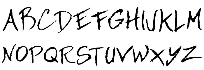 Dan Hand Font UPPERCASE