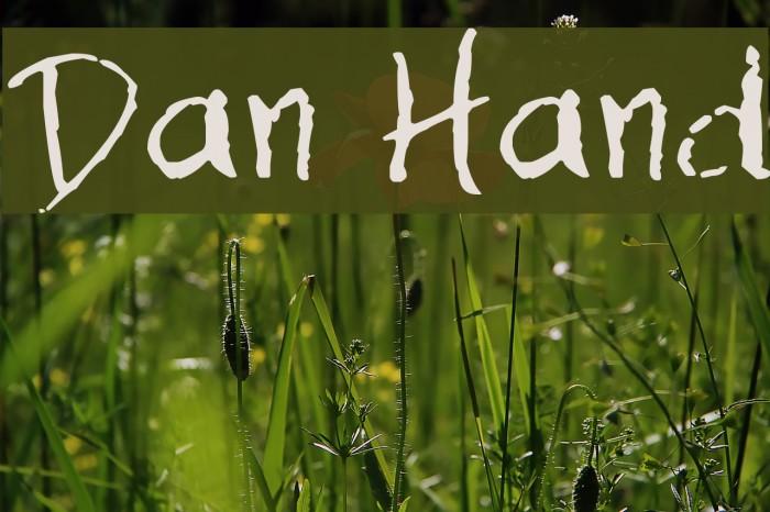 Dan Hand Font examples
