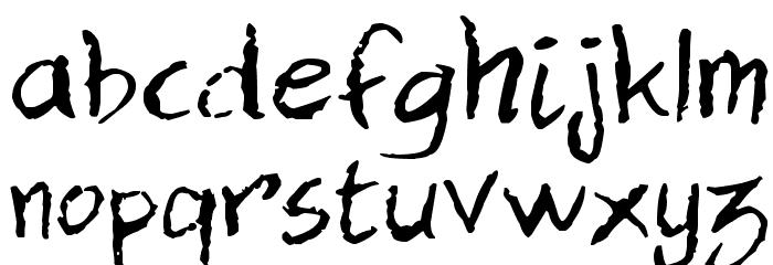 Dan Hand Font LOWERCASE
