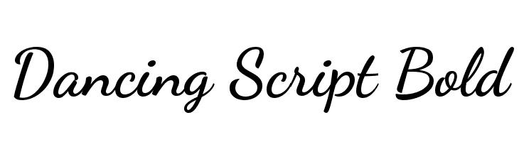 Dancing Script Bold  les polices de caractères gratuit télécharger
