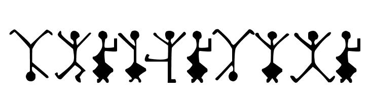 DancingMen  Free Fonts Download