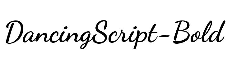 DancingScript-Bold  font caratteri gratis