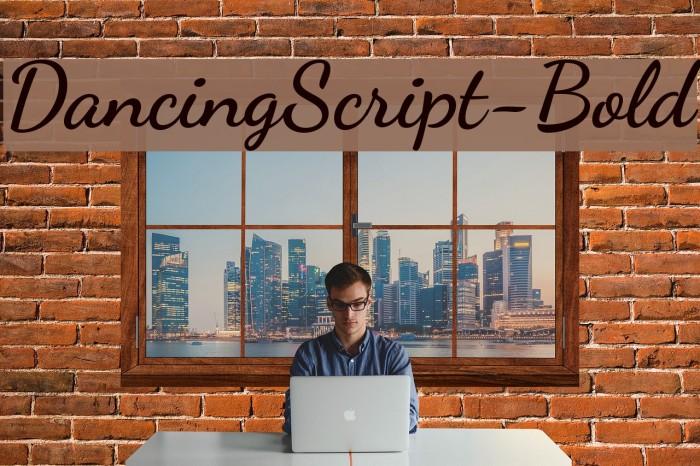 DancingScript-Bold Шрифта examples
