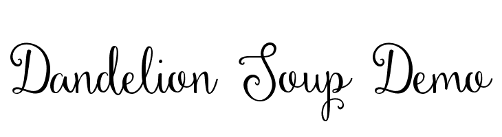 Dandelion Soup Demo  Descarca Fonturi Gratis