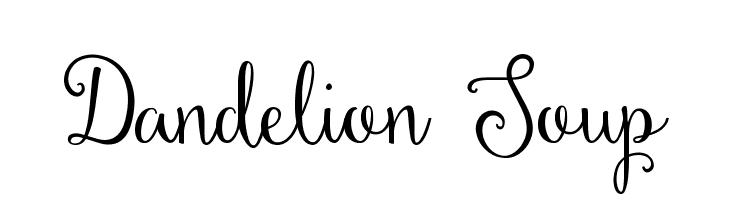 Dandelion Soup  フリーフォントのダウンロード