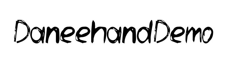 Daneehand Demo Schriftart