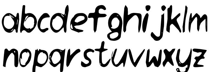 Daneehand Demo Schriftart Kleinbuchstaben