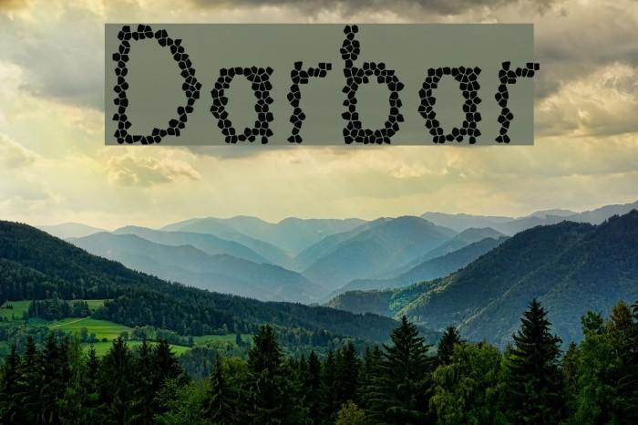 Darbar फ़ॉन्ट examples