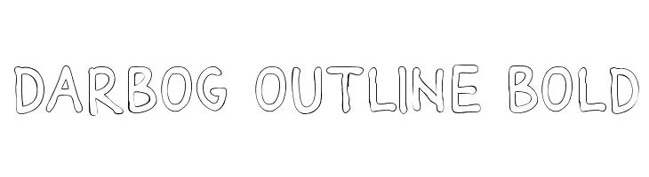 Darbog outline Bold  Скачать бесплатные шрифты