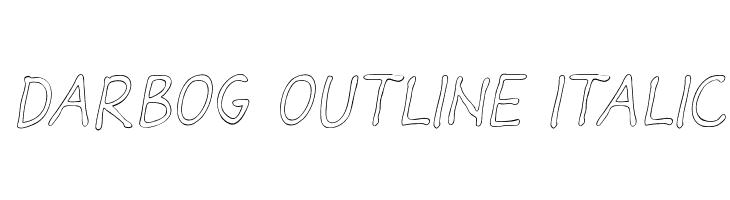 Darbog outline Italic  baixar fontes gratis