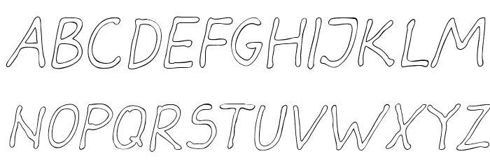 Darbog outline Italic Fonte MAIÚSCULAS
