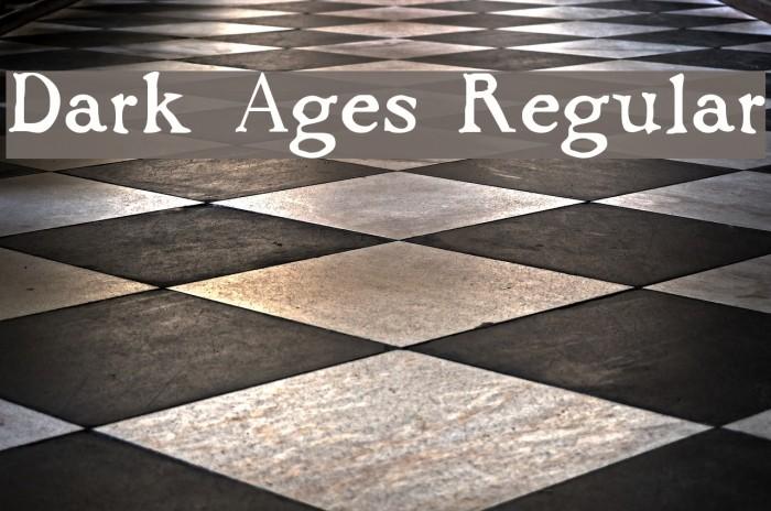 Dark Ages Regular Шрифта examples