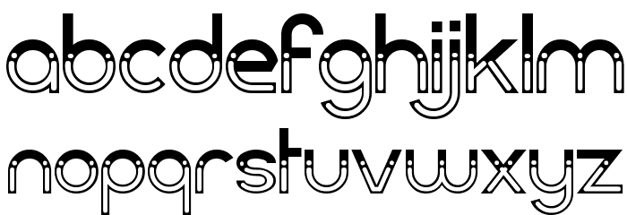 Dark Bastion Font LOWERCASE
