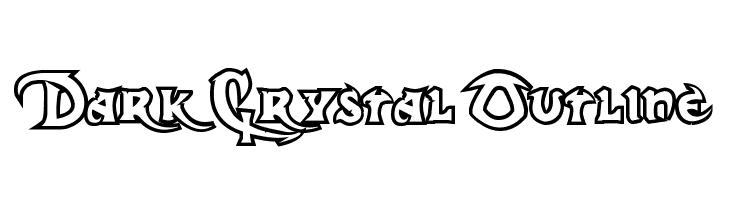 Dark Crystal Outline  Free Fonts Download