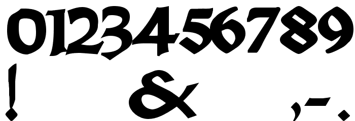 Dark Crystal Script Font OTHER CHARS