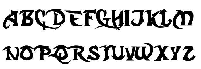 Dark Crystal Script Font UPPERCASE