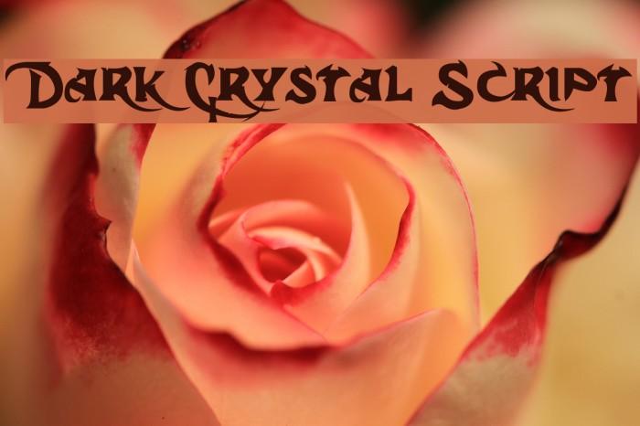 Dark Crystal Script Font examples