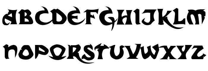 Dark Crystal Script Font LOWERCASE