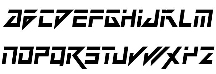 dark future italic font