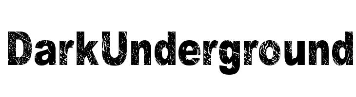 Dark Underground  नि: शुल्क फ़ॉन्ट्स डाउनलोड