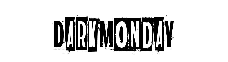 Dark monday  Free Fonts Download