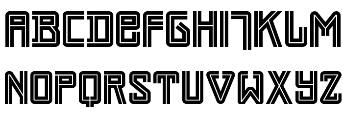 Darmstadt Arts NF Font UPPERCASE