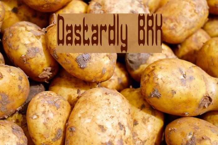 Dastardly BRK Шрифта examples