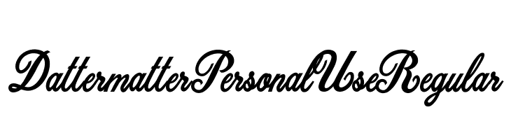 Dattermatter Personal Use Regular Schriftart