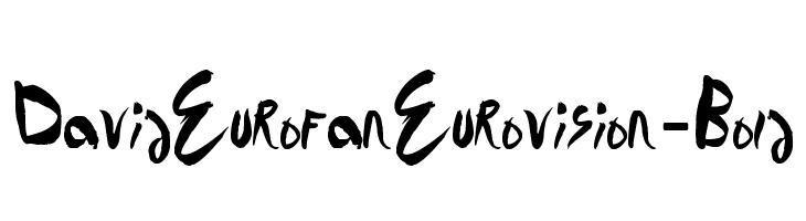 DavidEurofanEurovision-Bold  Descarca Fonturi Gratis