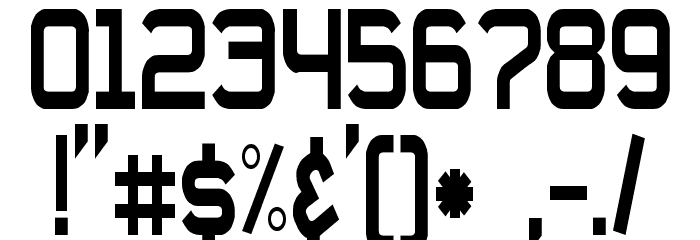 Daville Condensed Font OTHER CHARS