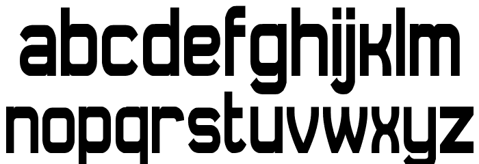 Daville Condensed Font LOWERCASE