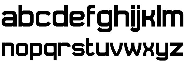 Daville Font LOWERCASE