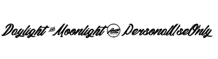 Daylight&Moonlight_PersonalUseOnly  baixar fontes gratis