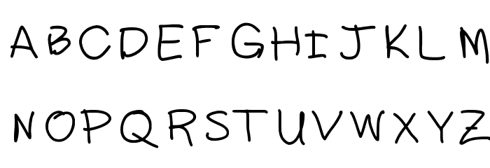 daddy Font UPPERCASE
