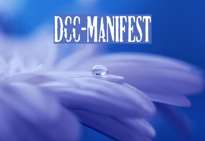 DCC-Manifest Font examples