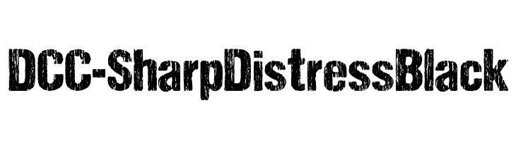DCC-SharpDistressBlack  Free Fonts Download
