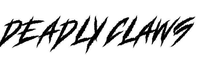 DEADLY CLAWS Font