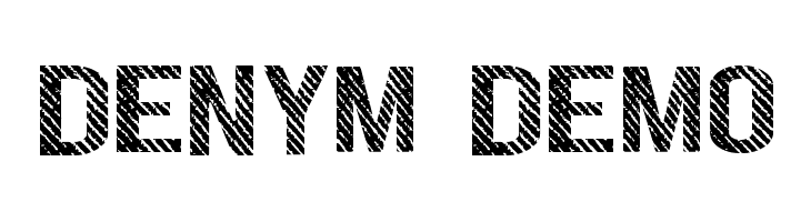 DENYM demo  Free Fonts Download