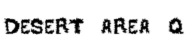 DESERT AREA-Q  font caratteri gratis