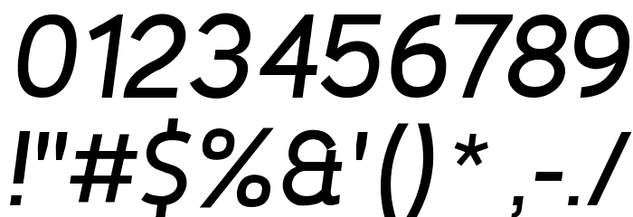 De Luxe Next Italic Font OTHER CHARS