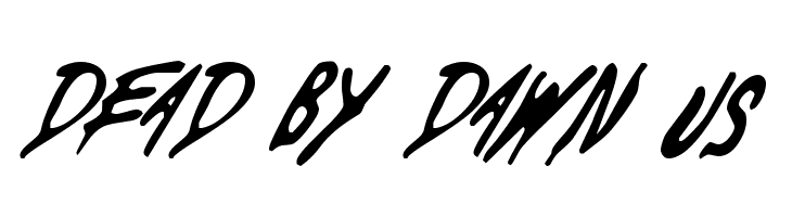 Dead By Dawn US Font