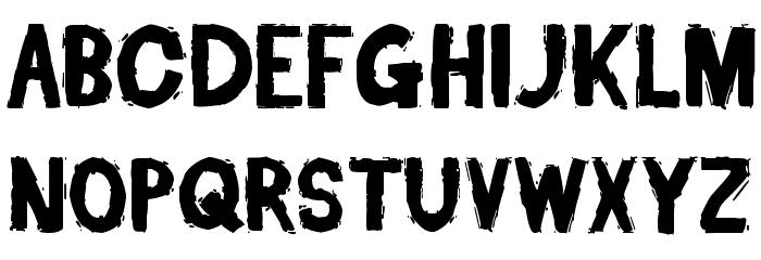Dead Font Walking Font UPPERCASE