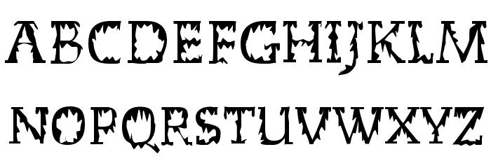Dead World Font UPPERCASE