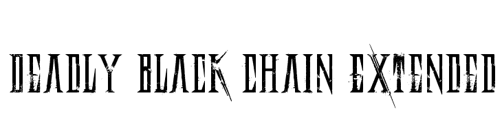 Deadly Black Chain Extended  Free Fonts Download
