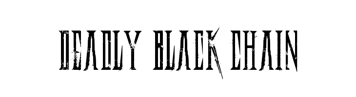 Deadly Black Chain  Free Fonts Download