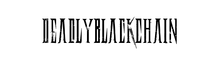 DeadlyBlackChain  Free Fonts Download