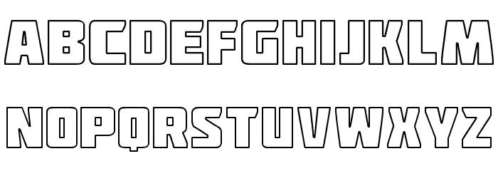 Deadpool Outline Font UPPERCASE
